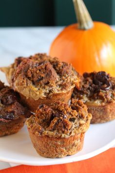 Pumpkin Chocolate Chip Bread Pudding Cups from Pidges Pantry