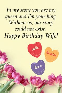Loveliest happy birthday wishes for your wife. Tell her how much you love her with these lovely wishes and messages. Long Distance Birthday, Birthday Wishes For Wife, Wishes For You, Romantic Quotes, Love Her, Messages, Text Posts, Text Conversations