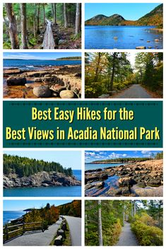 Check out this guide to the best easy hikes in Acadia National Park in Maine. These easy hikes offer gorgeous views with minimal effort. Family-friendly and accessible hikes included! Acadia National Park Hiking, Arcadia National Park, Us National Parks, Maine Road Trip, East Coast Road Trip, Places To Travel, Places To Visit, Visit Maine, New England Travel