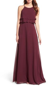 Jenny Yoo Charlie Ruffle Bodice Gown available at #Nordstrom In DUSTY ROSE