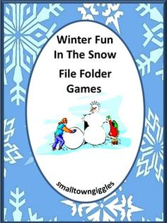 Winter Activities: Winter Fun In The Snow File Folder Games makes 6 printable file folder games for your PK-K or special education students. With Winter Fun In The Snow File Folder Games, students will practice visual discrimination, match pictures, match words, sort by size, complete patterns, count and read number words.