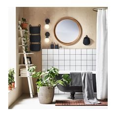 "IKEA: STABEKK Mirror - light brown; $99; Dimensions: 29 1/2 ""; Article Number: 602.880.89"