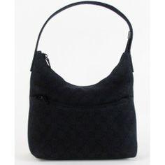 Gucci Black Monogram Denim Shoulder Bag #moshposh