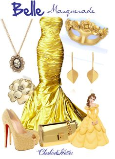 """Belle Masquerade"" by cheshirehatter ❤ liked on Polyvore"