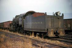 A PRR waits for the end on a yard track. Chattanooga Choo Choo, Railroad Companies, Pennsylvania Railroad, Steam Locomotive, Train Tracks, Model Trains, Transportation, Places To Go, Yard