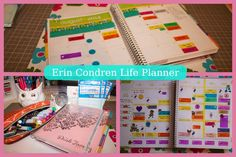 How I use my Erin Condren Planner: Ideas on how to use the Planner - Good Tips