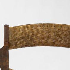 Peter Hvidt and Orla Mølgaard-Nielsen armchairs, pair Søborg Møbelfabrik Denmark, 1958 teak, rosewood, cane 24.5 w x 20 d x 29.75 h inches Literature: Illums Bolighus: Center of Modern Design, distributor's catalog, 1961, unpaginated