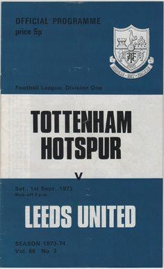 Vintage Football Programme - Tottenham Hotspur v Leeds United, 1973/74 season, by DakotabooVintage, £3.99