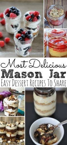 Looking for a list of delicious desserts for your next gathering? Check out these 25 Mason Jar Dessert Recipes that are not only delicious, easy to make, but they look super cute! - simplytodaylife.com #masonjardessert #dessertrecipes #easydessertrecipe