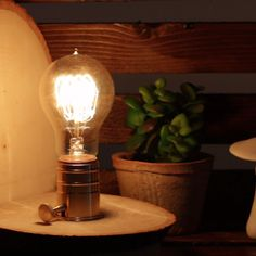 Edison Bulb Bookends