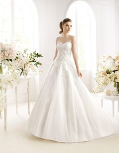 White One (by Pronovias) Jill Wedding Dress Types, Wedding Dresses 2014, Wedding Dress Shopping, Bridal Dresses, One Shoulder Wedding Dress, Wedding Gowns, Bridesmaid Dresses, Bridal Gown Styles, Wedding Styles