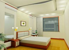bedroom false ceiling lights: modern bedroom with ceiling and wall lights