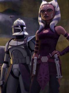 Ahsoka Tano and Rex Star Wars Rebels, Star Wars Clone Wars, Star Trek, Star Wars Clones, Star Wars Fan Art, Star Citizen, Disney Channel, Jedi Meister, Asoka Tano