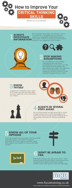How to Improve Your Critical Thinking Skills http://www.focustraining.co.uk/ #infographic #criticalthinking