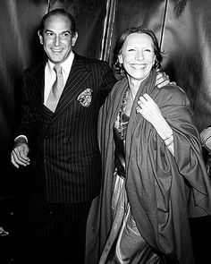 Designer #OscardelaRenta and date attend First Anniversary Party for Studio 54 on April 26, 1978 at Studio 54 in New York City.