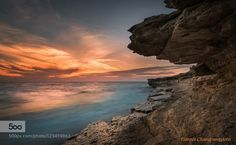 The end of the day from the rocks by yiannischatzipanagiotis