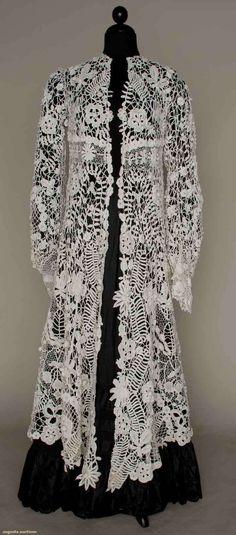 IRISH CROCHET EDWARDIAN COAT, 1905 I must have it! Or make it first...