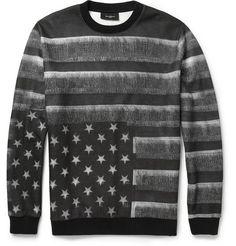 Givenchy Flag-Print Fleece-Back Jersey Sweatshirt | MR PORTER