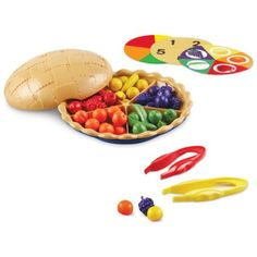 Learning Resources Super Sorting Pie to teach numbers and counting skills.  For preschoolers, autism etc