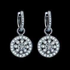 vintage diamond earrings <3