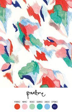 Contemporary Colour - textile by Margaux Dereume Motifs Textiles, Textile Patterns, Textile Prints, Art Prints, Art And Illustration, Illustrations, Surface Pattern Design, Pattern Art, Abstract Pattern