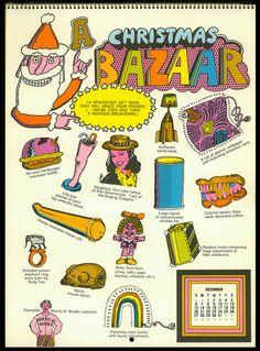 Psychedelic Hallmark Calendar, 1970 - 12/70 by MewDeep, via Flickr
