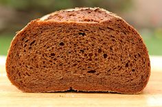 Pumpernickel Loaves (Baking with Julia) Uses 2.5 oz unsweetened chocolate, molasses, butter, yeast, 2 cups plain yogurt, prune butter, ground caraway seeds, coarse rye flour, and bread flour.