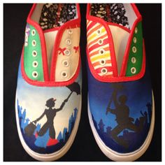 Mary Poppins-Inspired Custom Painted Canvas Shoes