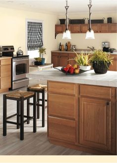 country kitchen wood cabinets with red wall color idea u2013 Home Design & 174 Best Paint Colors for Kitchens images in 2019 | Kitchen paint ...