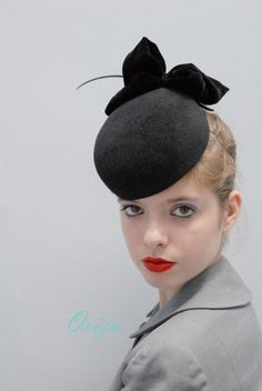 black apple pillbox hat