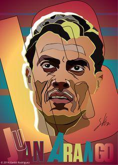 Reinterpretación e ilustración artística de rostros. En la imagen: Juan Arango…