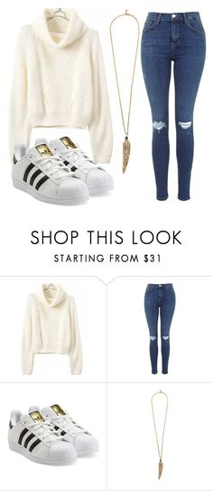"""quick and easy sweater look"" by michelluuh07 ❤ liked on Polyvore featuring adidas Originals and Roberto Cavalli"
