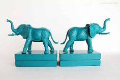 Pick your favorite plastic animal and turn him into a bookend.