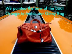 #chicunderground #eco #sustainable #eco #ginny #handbag #bag #recycled #plastic #bottles #fashion #accessorize #orange #beauty #hermes #birkin #bright #colors #boat #outoflimits #affordable #speedboat #summer #vacation #ocean #marina #style #vegan