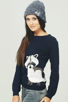 XM13 Racoon Sweater - Sugarhill Boutique