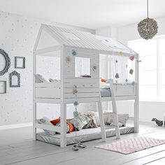 Life Time Großes Hüttenbett Silversparkle