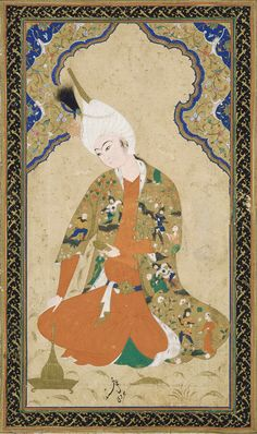 Young Prince,mid-16th century.Signed by Muhammad Haravi,Safavid period.Opaque watercolor and gold on paper.H: 34.1 W: 24.0 cm.Herat, Afghanistan.Purchase F1937.8.© 2012 Smithsonian Institution