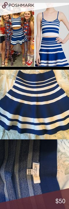 Lucy Paris Striped Skirt ASO Taylor Swift NWOT Lucy Paris high waisted striped skirt. Size XS. As seen on Taylor Swift. Perfect for summer and 4th of July! Lucy Paris Skirts