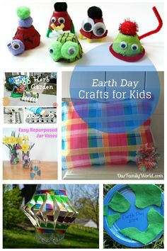 Teach kids about the importance of preserving our planet with these easy Earth Day crafts for kids! These eco-friendly DIY crafts are fun & educational!