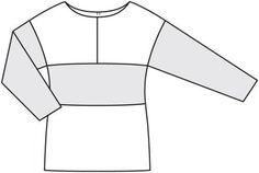 Sweterek: Burda. Sew łatwy i szybki 2/2012/3 B / Burdastyle