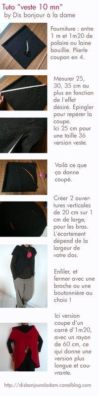 Tuto veste 10 mn - Photo de Pas à pas - Dis bonjour à la dame  attention pour les dimensions !!