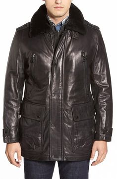 Distressed Men's Smooth Lamb Leather Car Coat For sale | SUPER ...