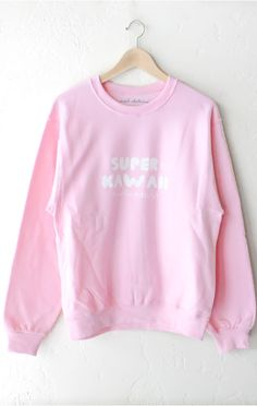 Description , Size Guide Details Super Kawaii oversized sweater in pink. Oversized,