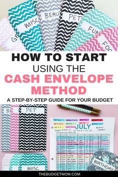 finance budgeting Are you wanting to get started with the cash envelope method, but dont know how to start Here is a detailed step-by-step guide that shows you how to move away from the debit card and into cash spending with your budget! - The Budget Mom Budgeting System, Budgeting Finances, Budgeting Tips, Budgeting Worksheets, Envelope Budget System, Cash Envelope System, Dave Ramsey Envelope System, Budget Envelopes, Cash Envelopes