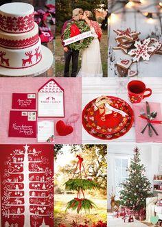 Scandinavian Christmas Wedding Styling Mood Board from The Wedding Community