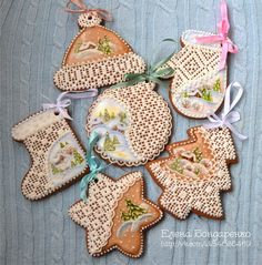 BEAUTIFUL cookie ornaments!