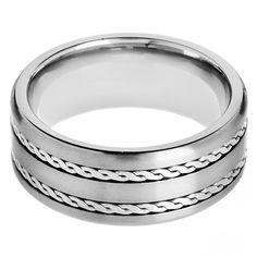 MARLON - pánsky prsteň - Titán - osadený strieborným zdobením - veľkosť: 65 Bangles, Bracelets, Titanic, Lapis Lazuli, Wedding Rings, Engagement Rings, Silver, Jewelry, Luxury