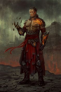 HAD to pin this from Magic: The Gathering by @Jason Stocks-Young Chan: lava man?