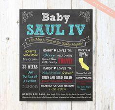 Personalizado Baby Shower regalo - signo de pizarra para imprimir - Baby Boy ducha Regístrate - mamá a ser pizarra bebé ducha regalo - archivo DIGITAL!