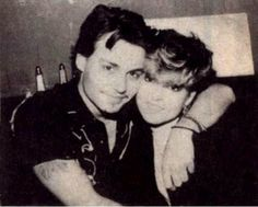 Johnny with his sister Christi, I didn't know he had a sister... cool!
